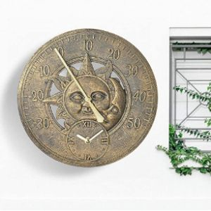 Yorking Garden Wall Clock Thermometer