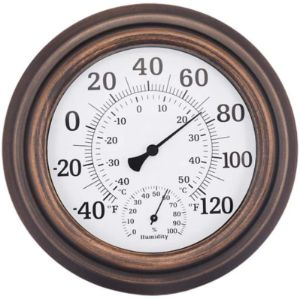 Zhll Vintage Decorative Outdoor Thermometer