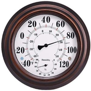 Ktdt Decorative Bronze Outdoor Thermometer