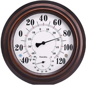 Zhll Decorative Bronze Outdoor Thermometer