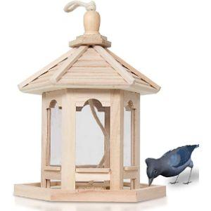 Bestcz Wood Bird Feeding Station