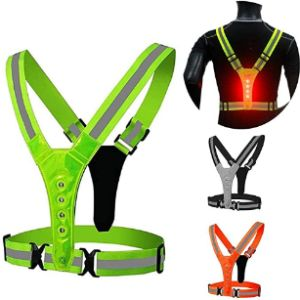 Waroomss Reflective Safety Vest Running