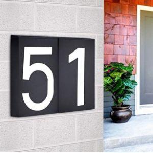 Wxqhyd Light Bulb House Number