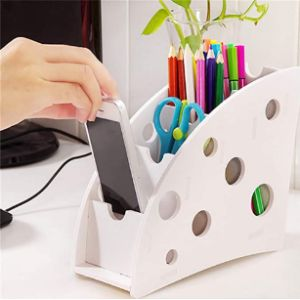 Hnce White Remote Control Holder
