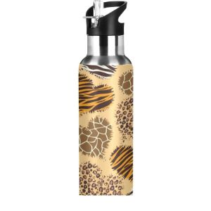 Mnsruu Zebra Stainless Steel Water Bottle