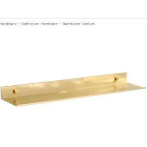 Wslwjh Gold Bathroom Shelf
