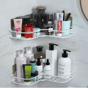 Lanboo S Ceramic Bathroom Corner Shelf