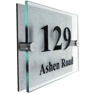 Acrylic Master Acrylic House Number Plaque