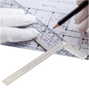 Oumefar Aluminum Straight Edge Ruler
