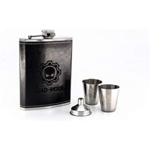 Road-Rebel Custom Parts Leather Covered Hip Flask