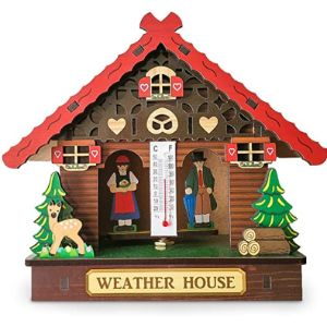 Keepart Wooden Wall Thermometer