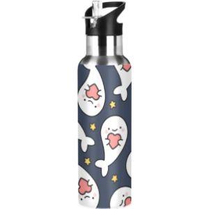 Mnsruu Health Stainless Steel Water Bottle