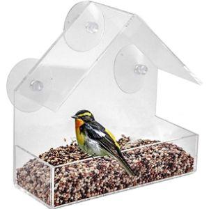 Joeesun Cat Window Bird Feeder
