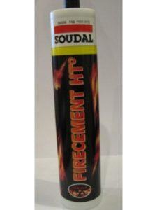 Soudal black tube  fire cements