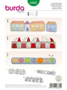 Burda sewing pattern  draft excluders