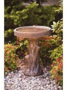 Robinswoodstone bird bath  tree stumps