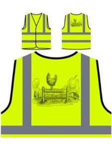 INNOGLEN chicken  high visibility vests