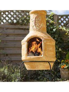 La Hacienda chiminea  clay pizza ovens
