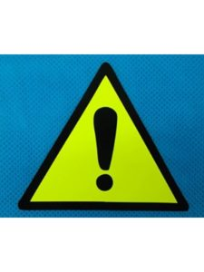 Advanced Printing exclamation mark  warning light triangles