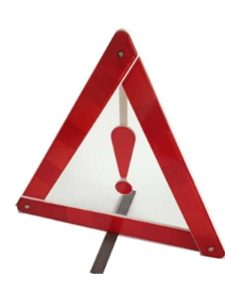 Q4 Travel exclamation mark  warning light triangles