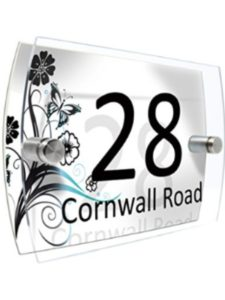 CS PRINTING LIMITED    house number plaque glasses