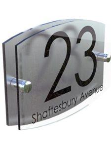 K Smart Sign Ltd    house number plaque glasses