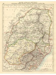Antiqua Print Gallery map image  south africas