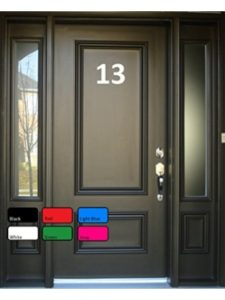Craft Art Design rock  house numbers