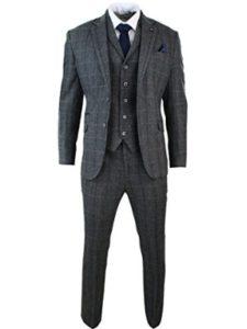 cavani suit  herringbone patterns