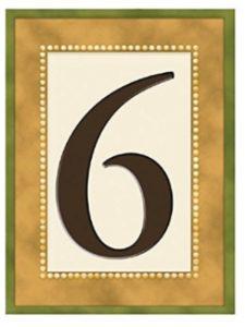 Grasslands Road tile holder  house numbers