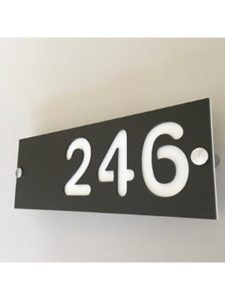 ServeWell art deco  house number plaques