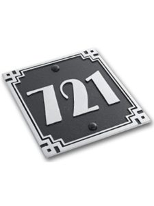The Metal Foundry art deco  house number plaques