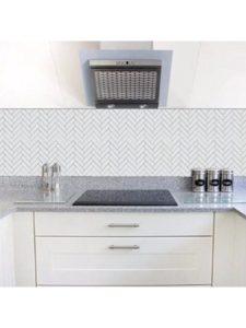 Frolahouse bathroom tile  herringbone patterns