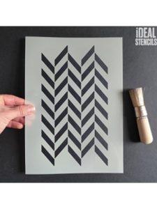 Ideal Stencils image  herringbone patterns