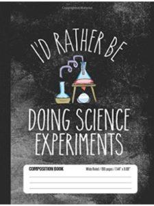 Science Fan Notebooks journal  science experiments