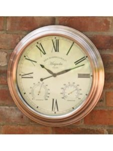 Homezone® outdoor clock  wall thermometers