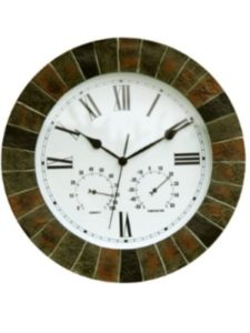Primrose outdoor clock  wall thermometers