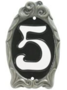 Black Country Metal Works reflective  house number plaques
