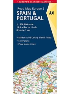 AA Publishing road map  southern spains