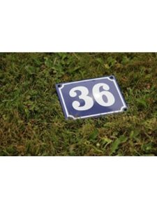 TopEmaille stencil  house numbers