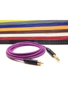 Custom-Lynx    subwoofer purple cables