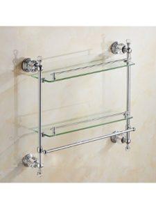 LY-Bathroom Shelf    glass shelf towel racks