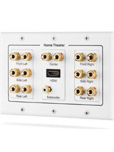 Fosmon Distributing, LLC home theater speaker  wall plates