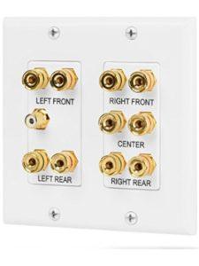 Fosmon Technology home theater speaker  wall plates