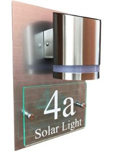 De-sign a plaque    house number sign lights
