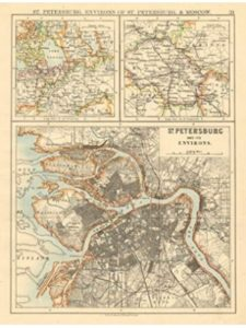 Antiqua Print Gallery map russia  st petersburgs