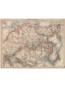 Antiqua Print Gallery map russia  trans siberian railways