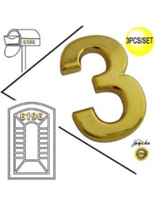 Magic Decoration numerology 4  house numbers