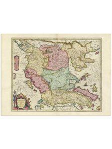 the Blaeu Prints old  macedonia maps