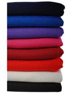 Neotrims Knitted Fabrics    red ribbon with white stitchings